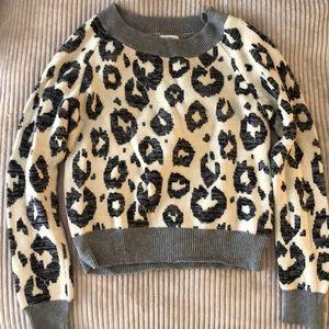 Cozy cheetah print sweater